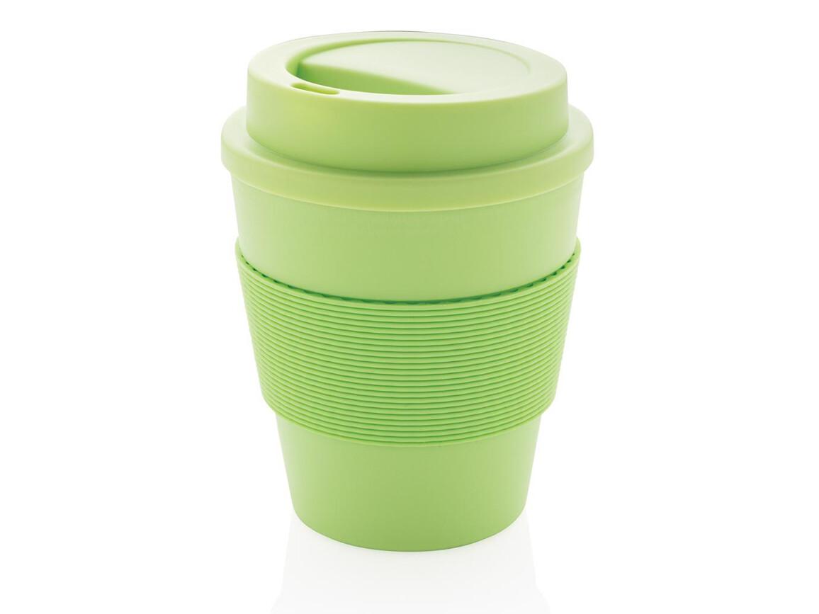 Wiederverwendbarer Kaffeebecher 350ml grün bedrucken, Art.-Nr. P432.687