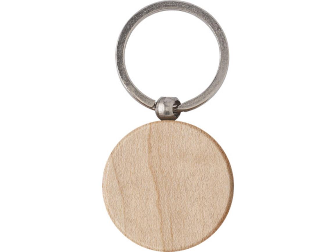 Schlüsselanhänger 'Woody 1' aus Holz – Braun bedrucken, Art.-Nr. 011999060_9291
