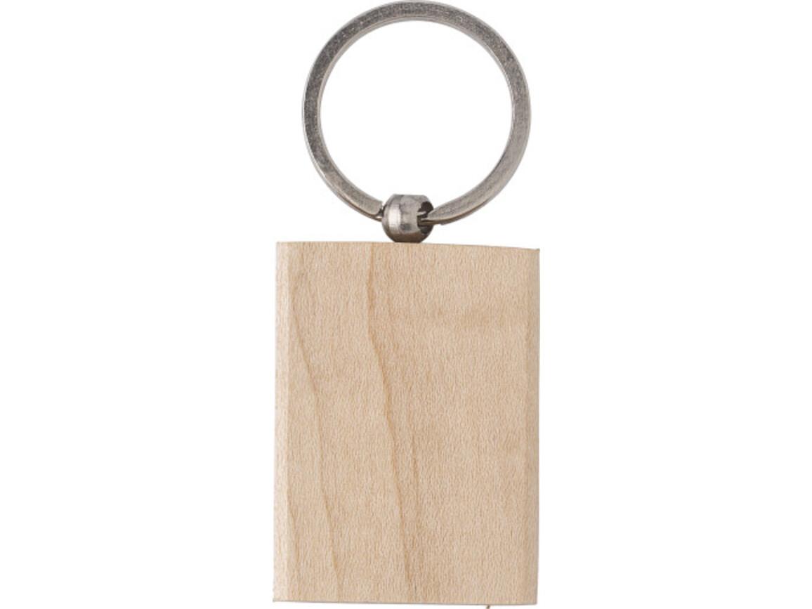 Schlüsselanhänger 'Woody 2' aus Holz – Braun bedrucken, Art.-Nr. 011999064_9293