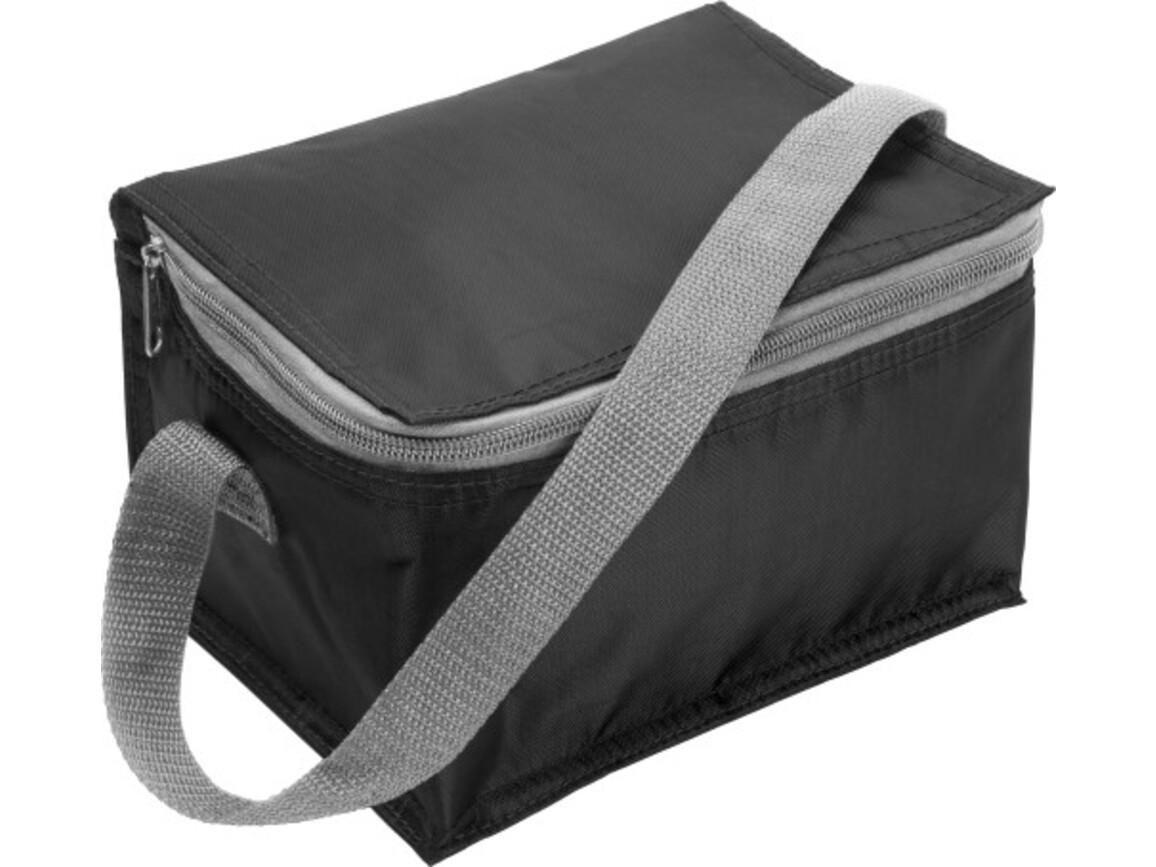Kühltasche 'Ischgll' aus Polyester – Schwarz bedrucken, Art.-Nr. 001999999_3604