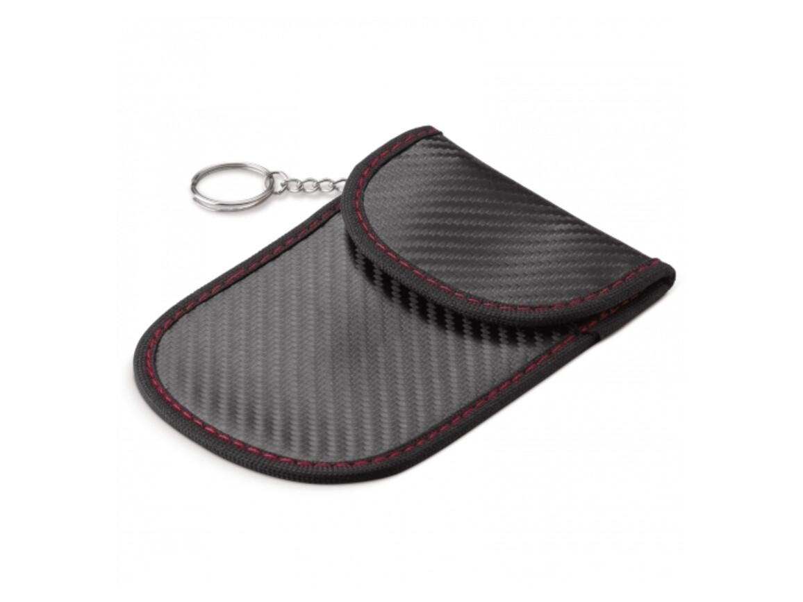 Faraday Sicherheitstasche für Autoschlüssel - Schwarz bedrucken, Art.-Nr. LT92193-N0002