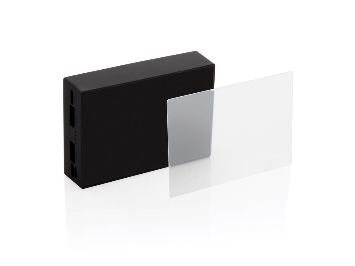 5.000 mAh Wireless Powerbank mit Sicherheitsglas schwarz bedrucken, Art.-Nr. P322.091