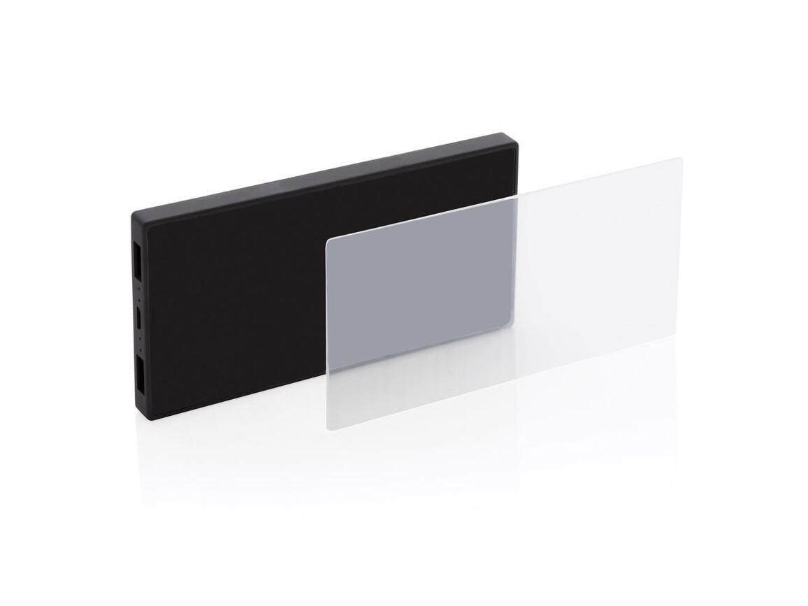 5.000 mAh Powerbank mit Sicherheitsglas schwarz bedrucken, Art.-Nr. P322.101
