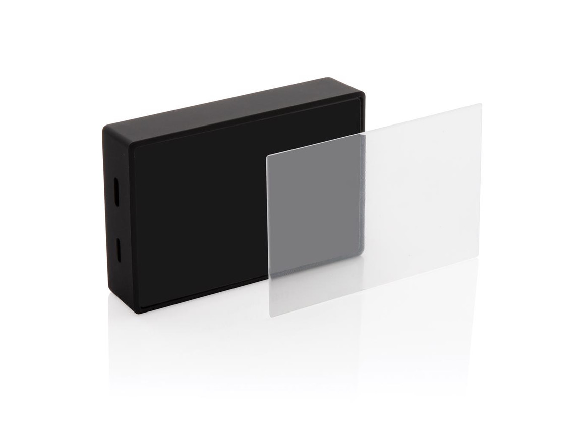 3W kabelloser Lautsprecher mit Sicherheitsglas schwarz bedrucken, Art.-Nr. P329.221