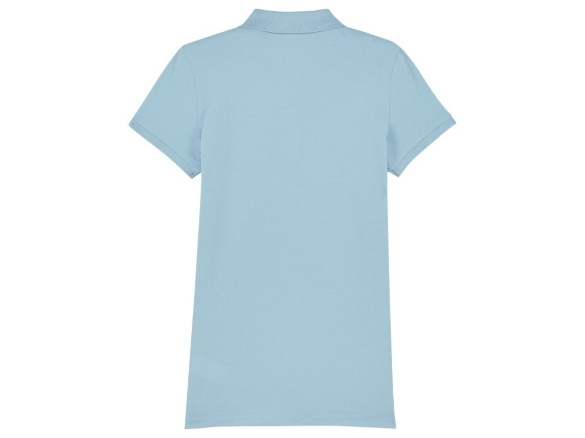 Damen Poloshirt - Sky blue - S bedrucken, Art.-Nr. STPW034C2321S
