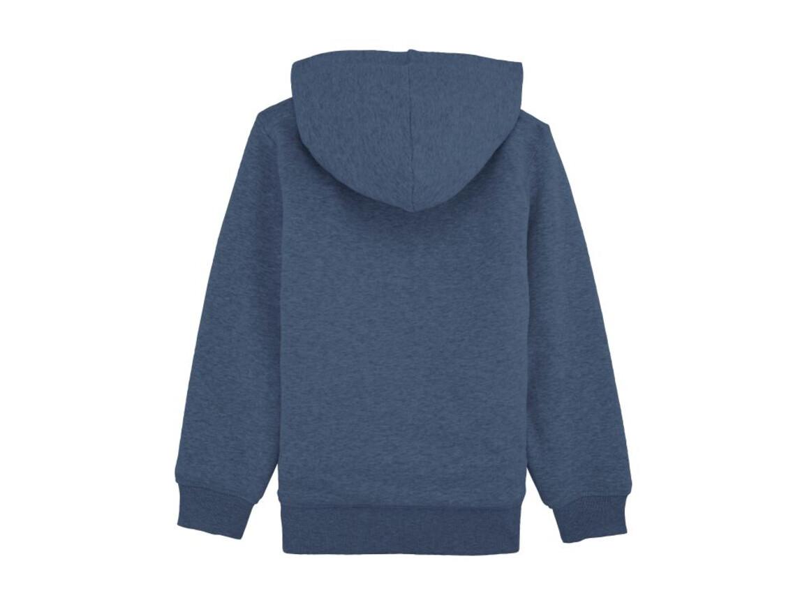 Kinder Hoodie mit Reißverschluss und Sherpa-Futter - Dark Heather Blue - 12-14 bedrucken, Art.-Nr. STSK903C65212