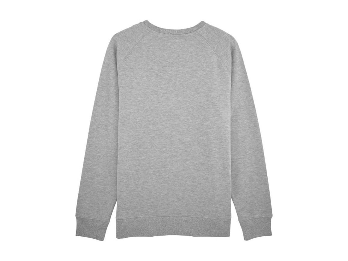 Herren Sweatshirt aus Pikee - Heather Grey - XL bedrucken, Art.-Nr. STSM557C2501X