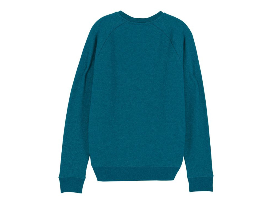 Iconic Herren Rundhals-Sweatshirt - Dark Heather Teal - S bedrucken, Art.-Nr. STSM567C6551S