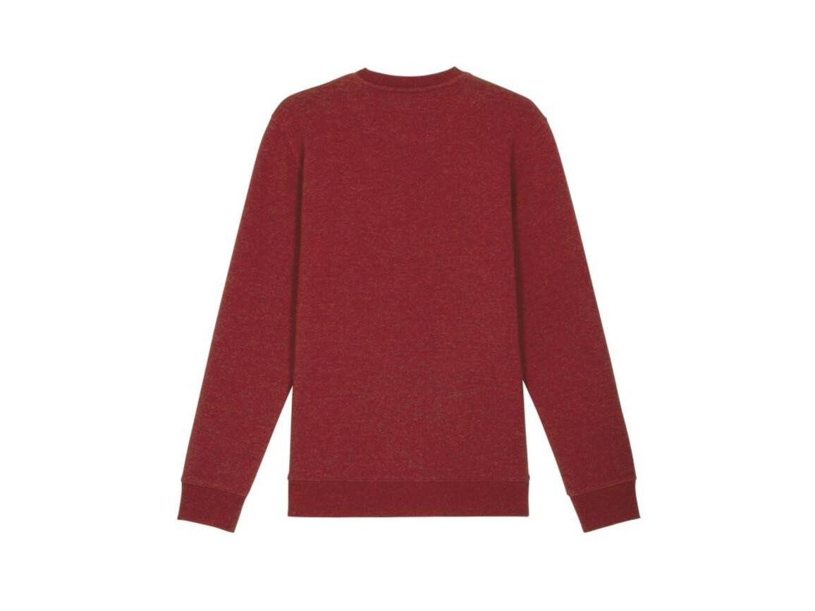Iconic Unisex Rundhals-Sweatshirt - Heather Neppy Burgundy - M bedrucken, Art.-Nr. STSU823C6871M