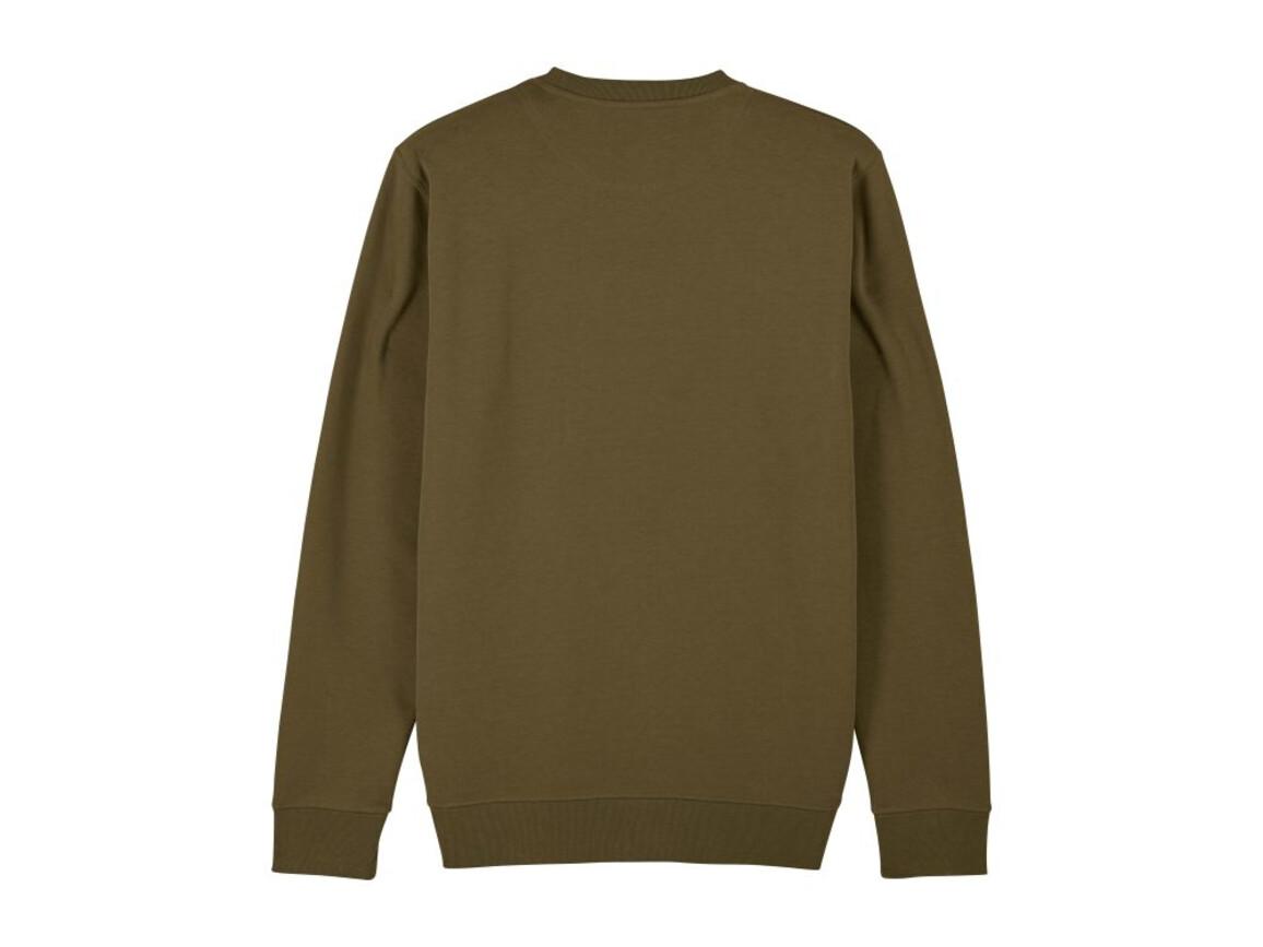 Iconic Unisex Rundhals-Sweatshirt - British Khaki - S bedrucken, Art.-Nr. STSU823C0081S