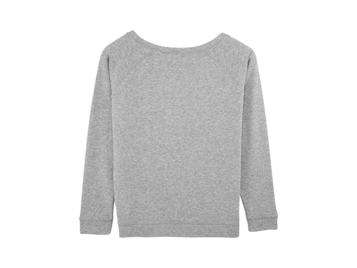 Damen Sweatshirt mit weitem Ausschnitt - Heather Grey - S bedrucken, Art.-Nr. STSW050C2501S