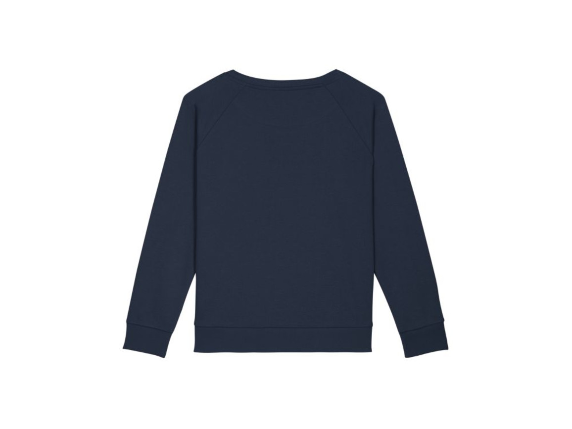 Locker sitzendes Damen Sweatshirt - French Navy - L bedrucken, Art.-Nr. STSW125C7271L
