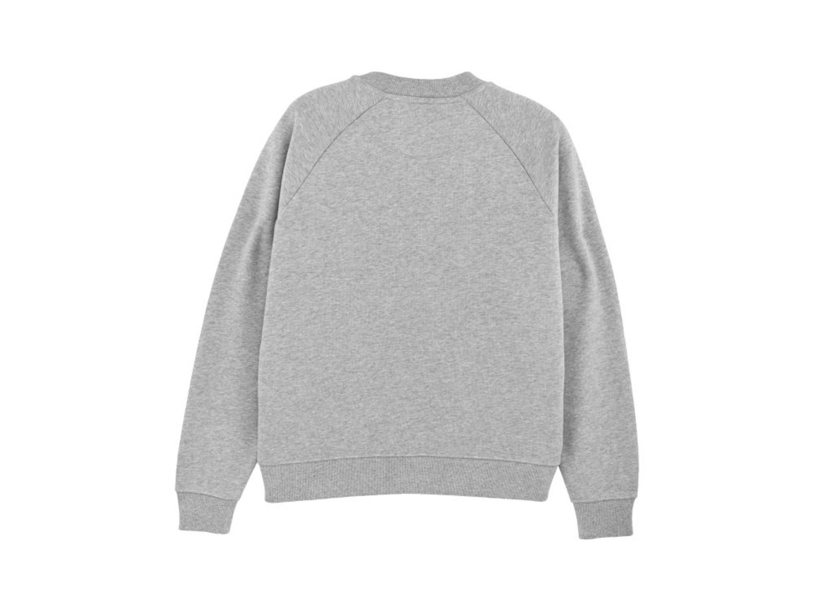 Damen Sweatshirt mit Stehkragen - Heather Grey - L bedrucken, Art.-Nr. STSW131C2501L