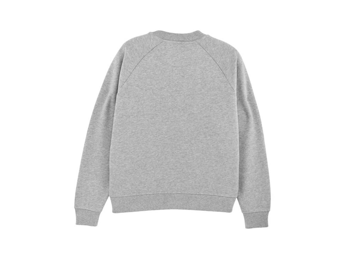 Damen Sweatshirt mit Stehkragen - Heather Grey - M bedrucken, Art.-Nr. STSW131C2501M