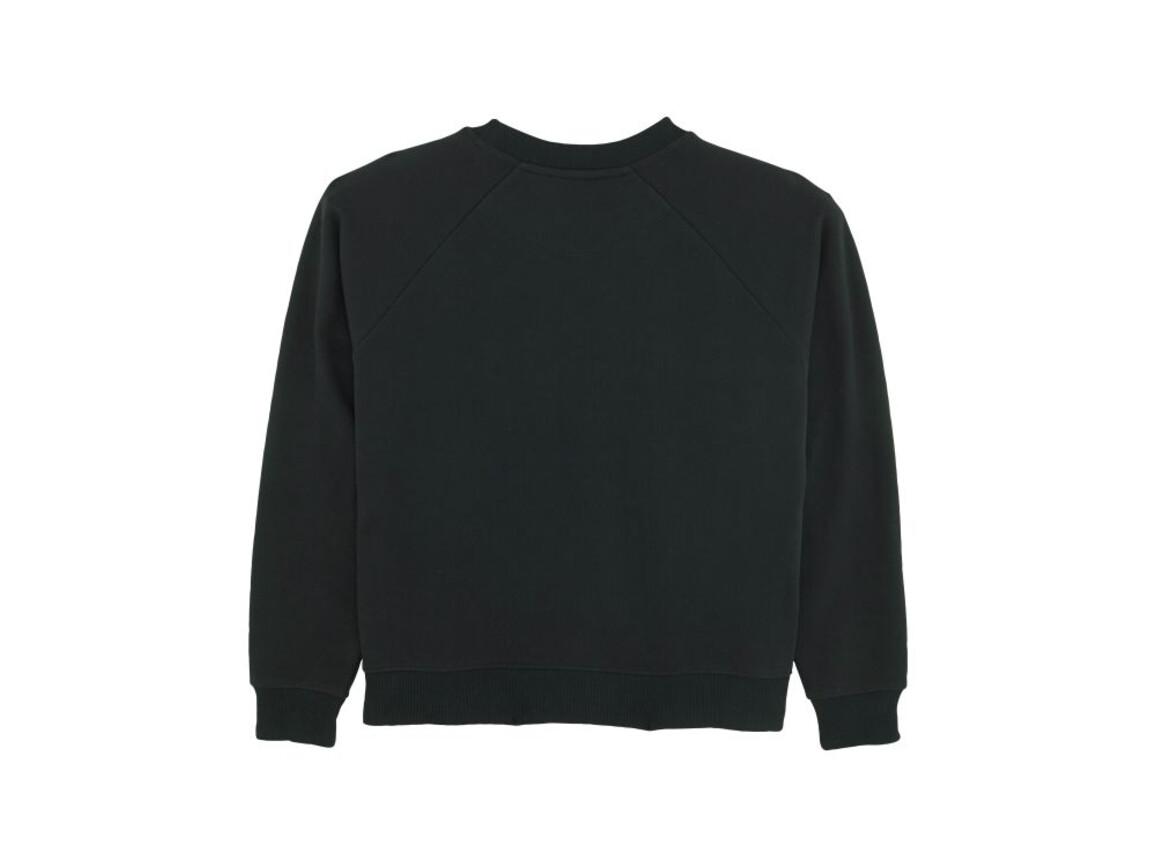 Damen Sweatshirt mit Stehkragen - Black - L bedrucken, Art.-Nr. STSW131C0021L