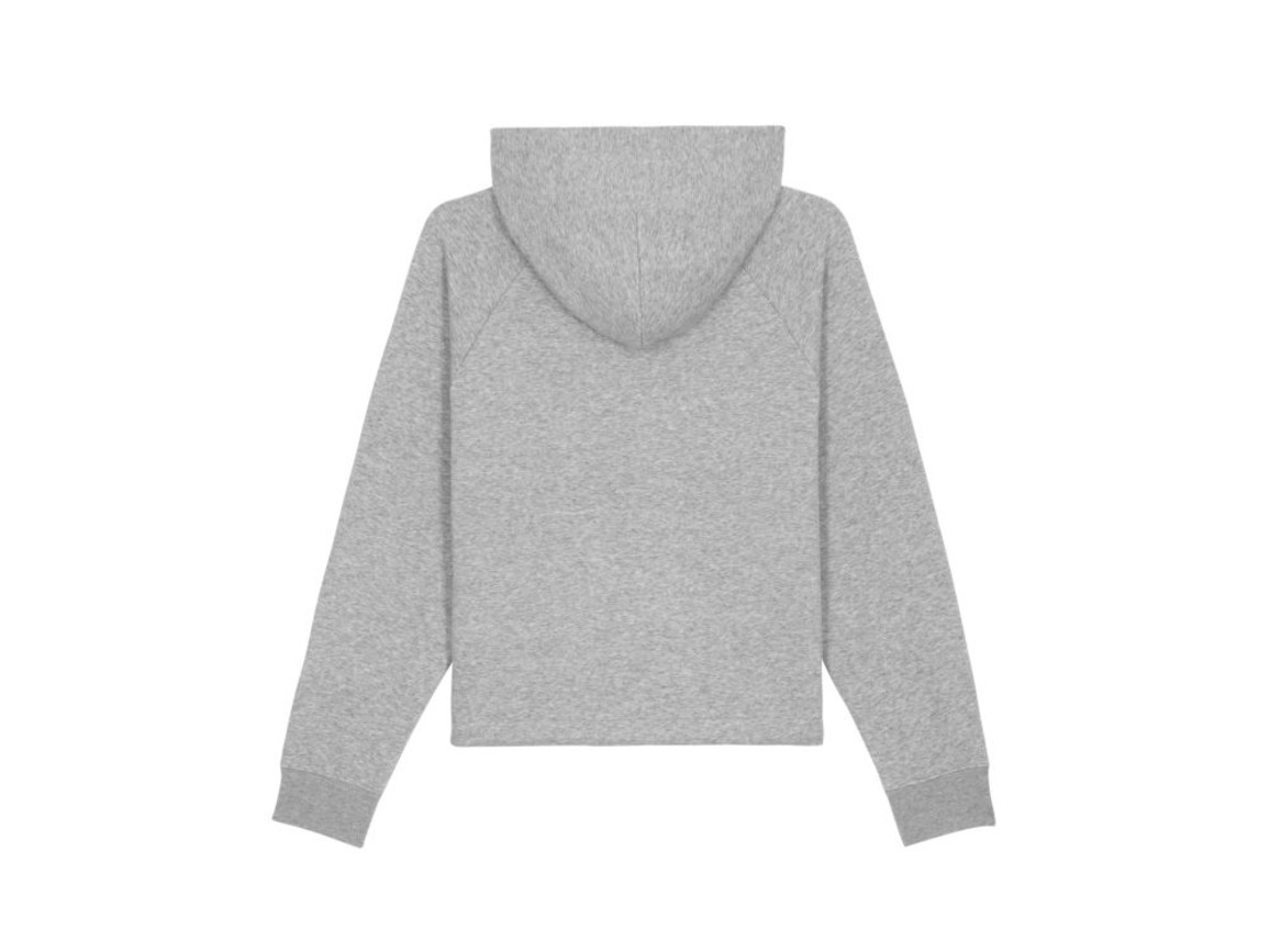 Kurzer Damen Kapuzensweat - Heather Grey - XL bedrucken, Art.-Nr. STSW132C2501X