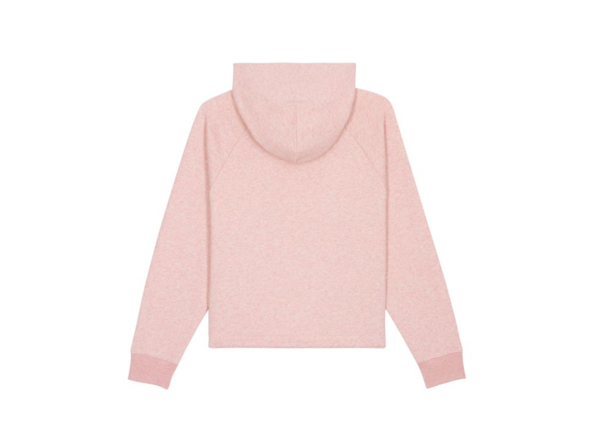 Kurzer Damen Kapuzensweat - Cream Heather Pink - L bedrucken, Art.-Nr. STSW132C6821L