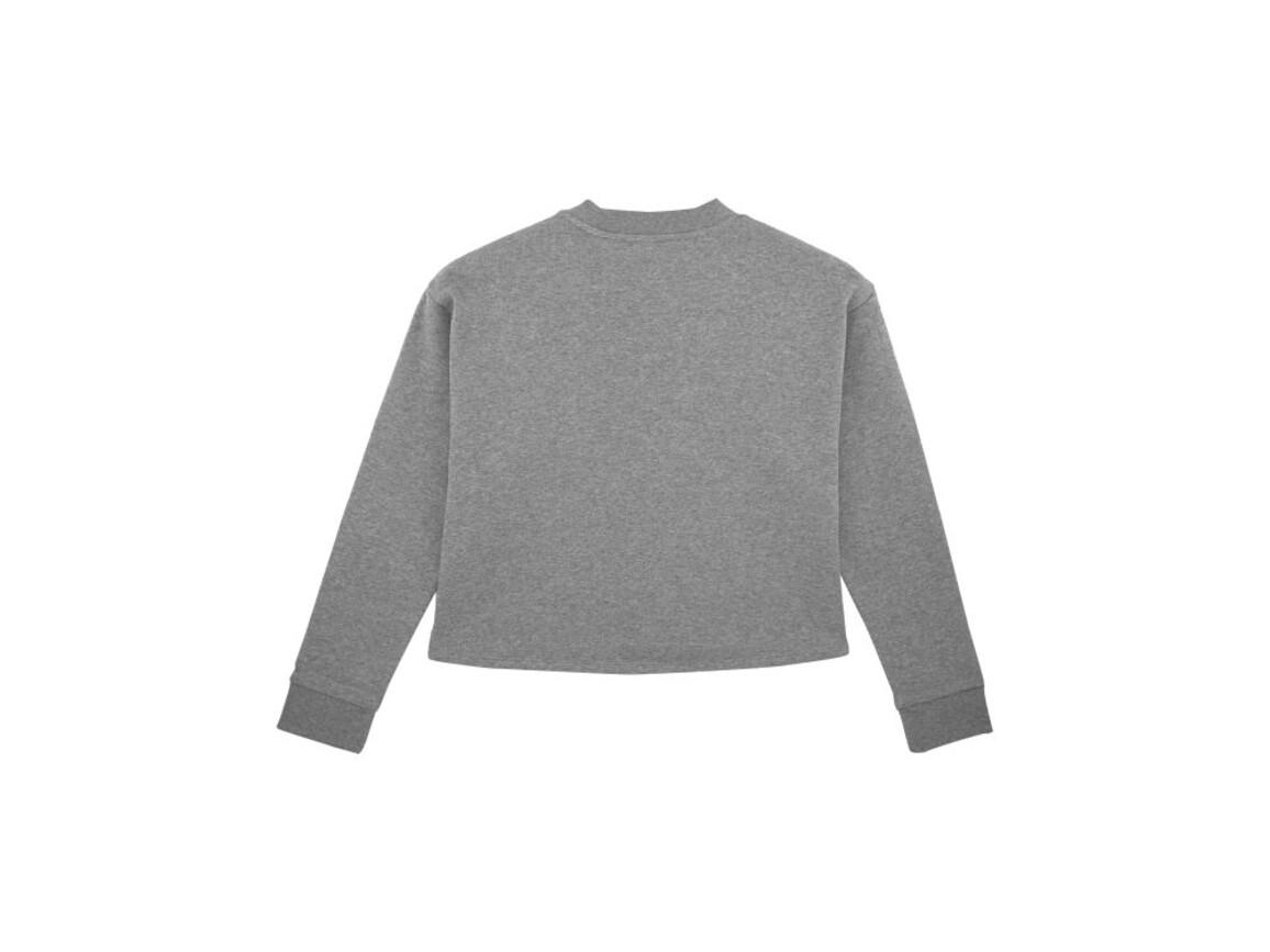 Damen Kurzes Sweatshirt - Mid Heather Grey - XS bedrucken, Art.-Nr. STSW135C650XS