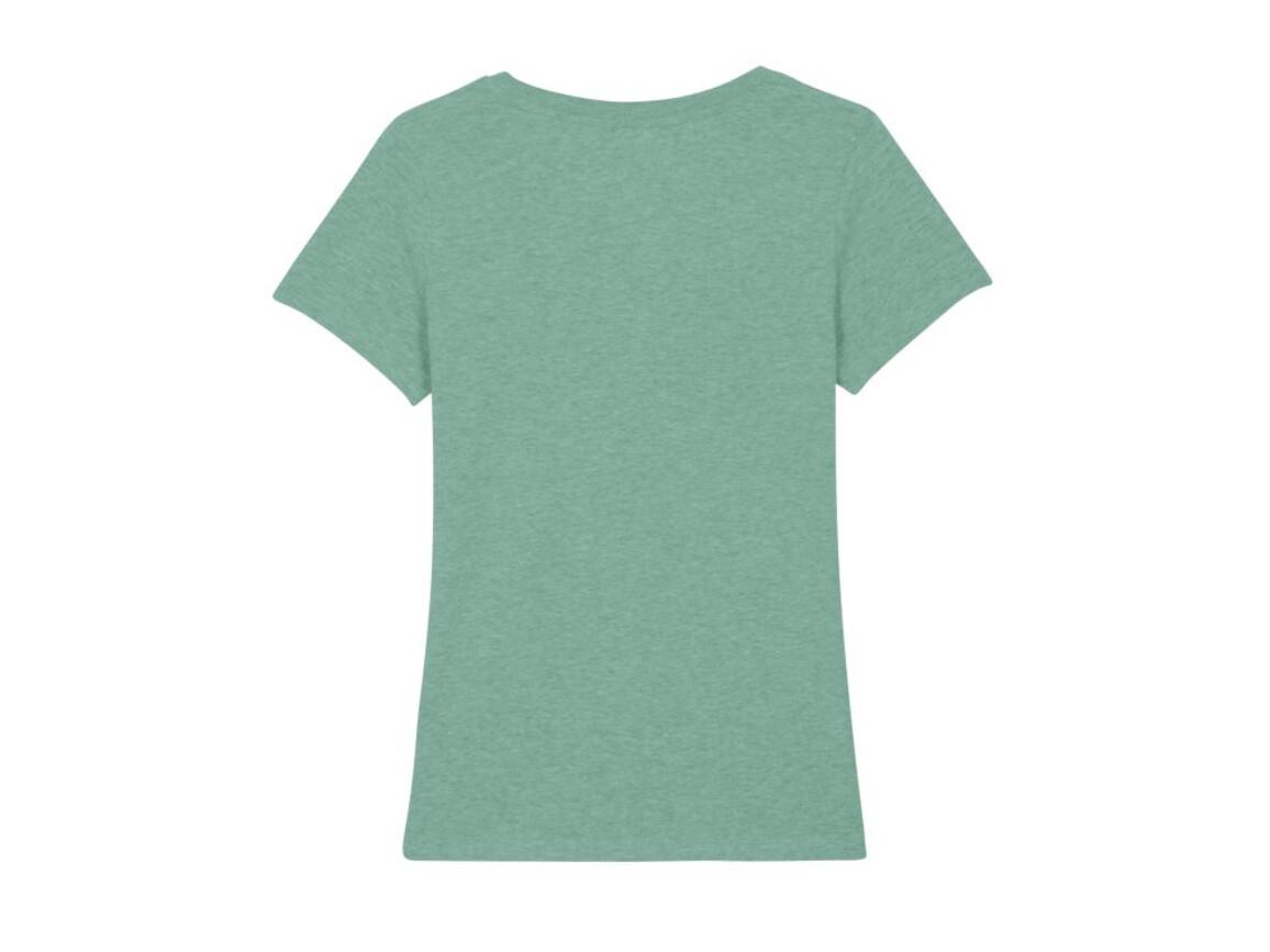 Iconic Damen anliegendes T-Shirt - Mid Heather Green - XS bedrucken, Art.-Nr. STTW032C656XS