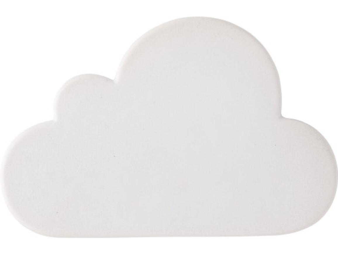 Anti-Stress-Wolke 'Cloudy' aus PU-Schaum – Weiß bedrucken, Art.-Nr. 002999999_8474