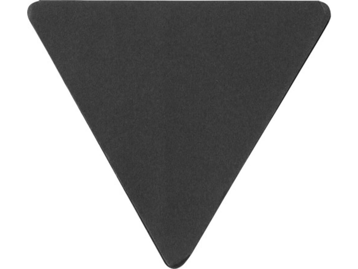Haftnotizen 'Tri' aus Papier – Schwarz bedrucken, Art.-Nr. 001999999_8990