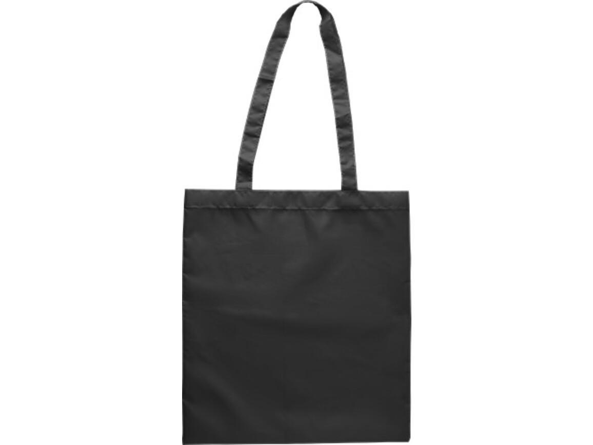 Einkaufstasche 'Peaches' aus RPET-Polyester – Schwarz bedrucken, Art.-Nr. 001999999_9262