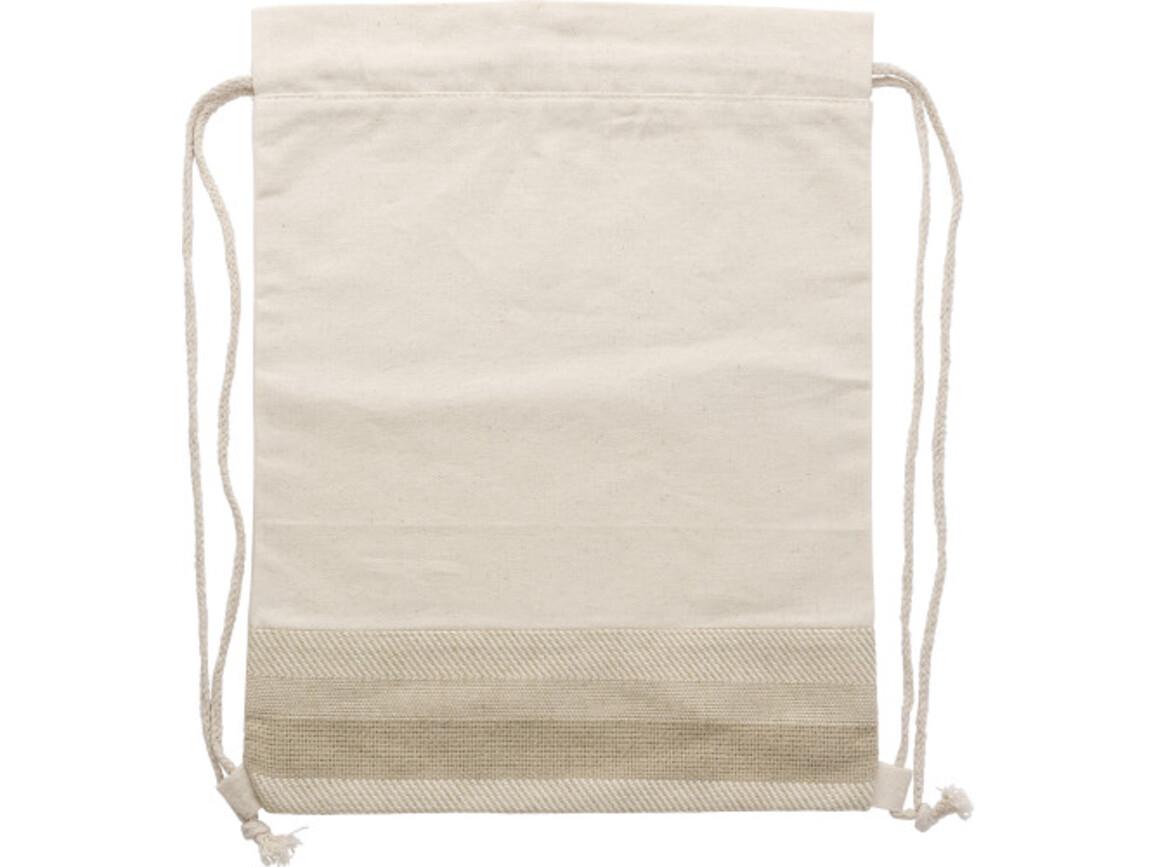 Turnbeutel 'Natural Shopper' aus Baumwolle – Braun bedrucken, Art.-Nr. 011999999_9275