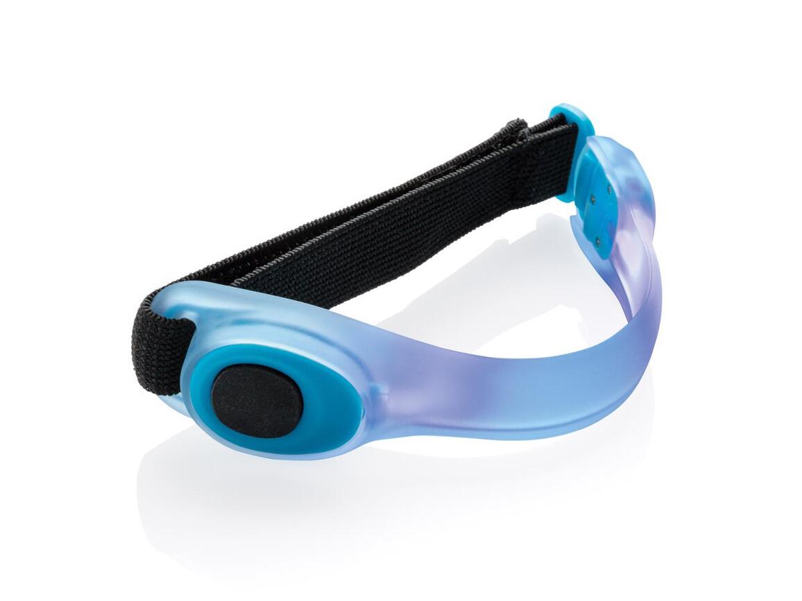 Sicherheitsband mit LED blau bedrucken, Art.-Nr. P239.435