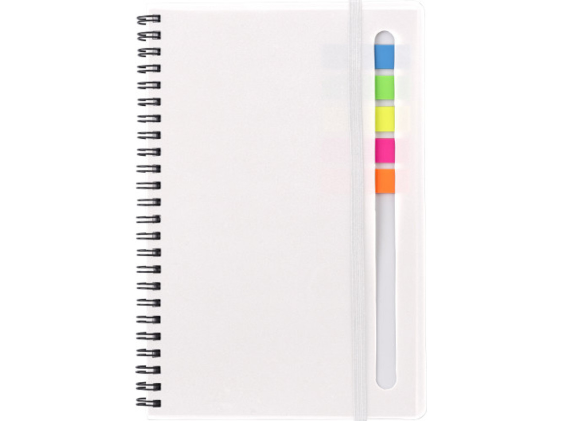 Notizblock 'Insight' aus Kunststoff – Weiß bedrucken, Art.-Nr. 002999999_9248