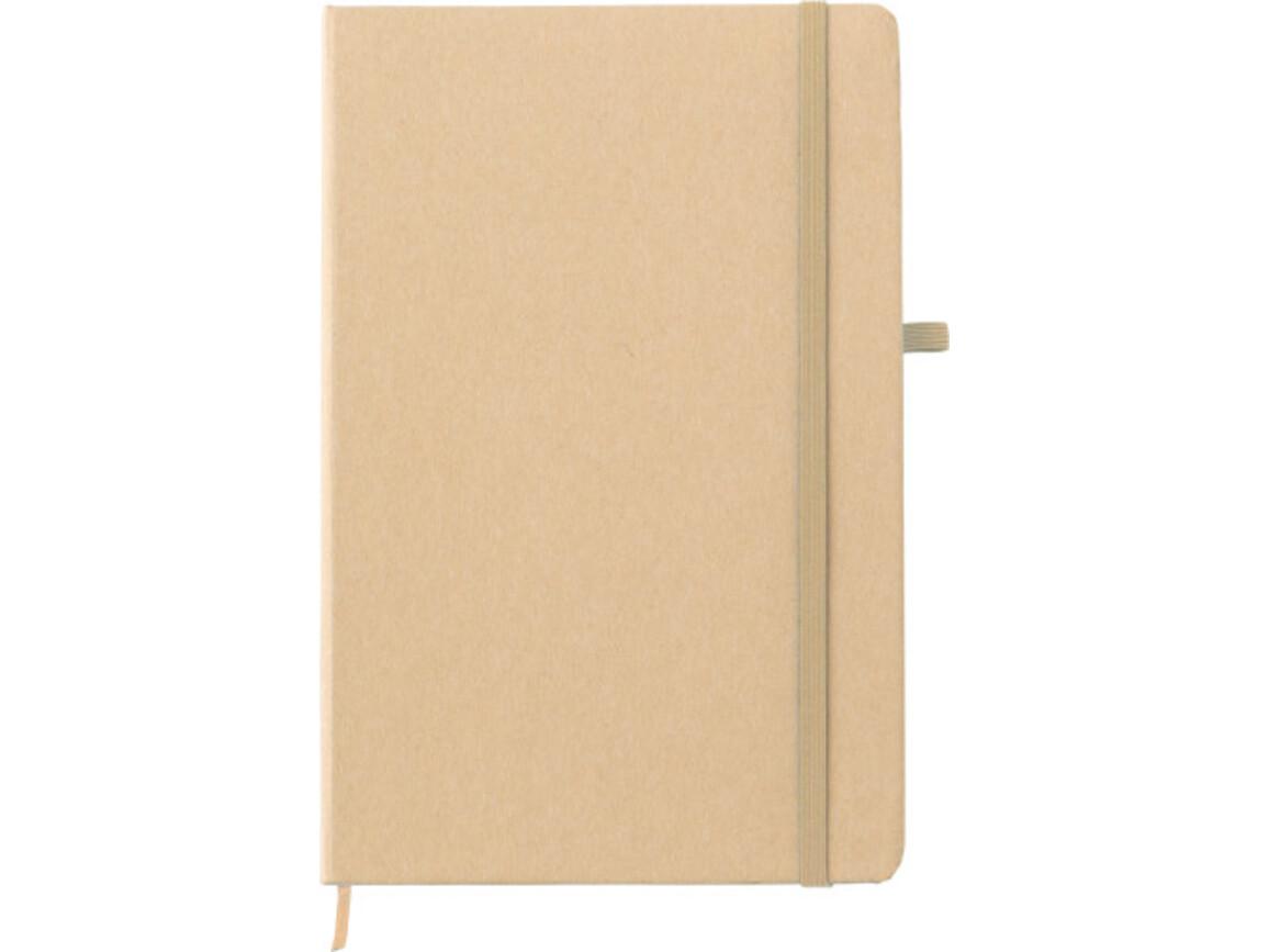 Notizbuch 'Closing' aus Papier – Khaki bedrucken, Art.-Nr. 013999999_9144