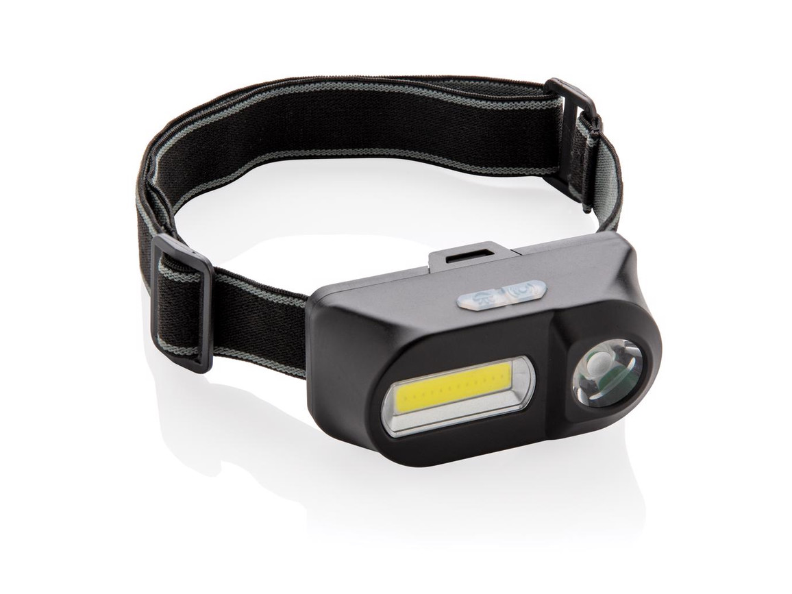 COB und LED Stirnlampe schwarz bedrucken, Art.-Nr. P518.041