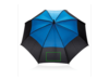 """27"""" Duo Color Storm-Proof Schirm mit automatischer Öffnung blau bedrucken, Art.-Nr. P850.295"""