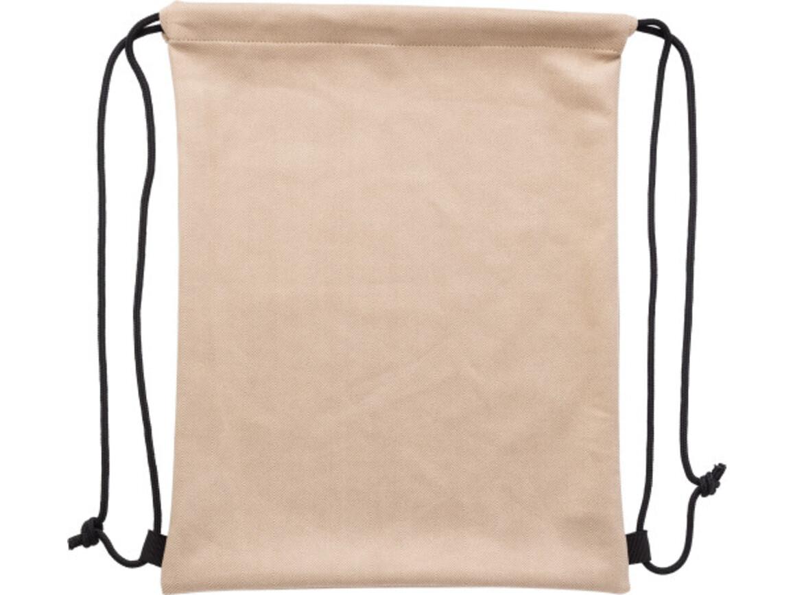Turnbeutel 'Larissa' aus Polyester – Khaki bedrucken, Art.-Nr. 013999999_9263