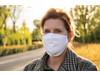 Wiederverwendbare 2-lagige Baumwoll-Gesichtsmaske weiß bedrucken, Art.-Nr. P265.893