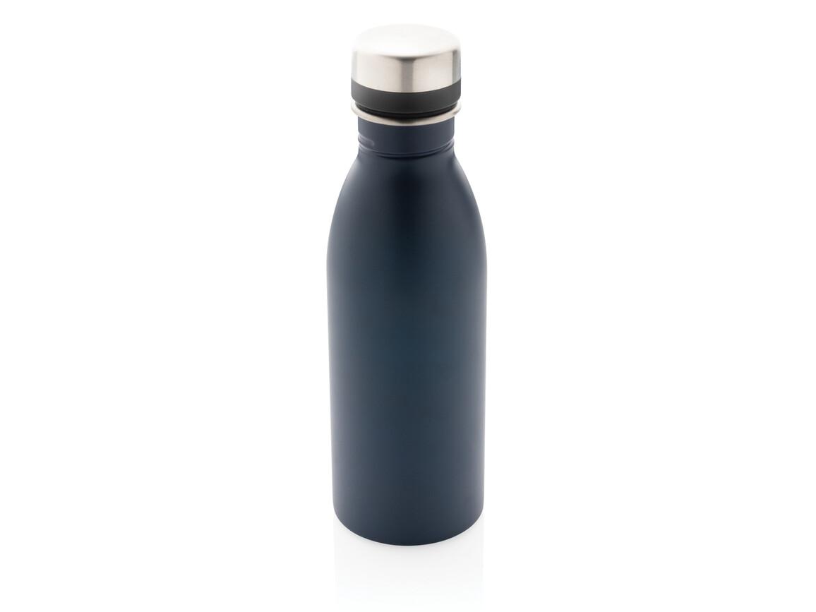 Deluxe Wasserflasche navy blau bedrucken, Art.-Nr. P436.410