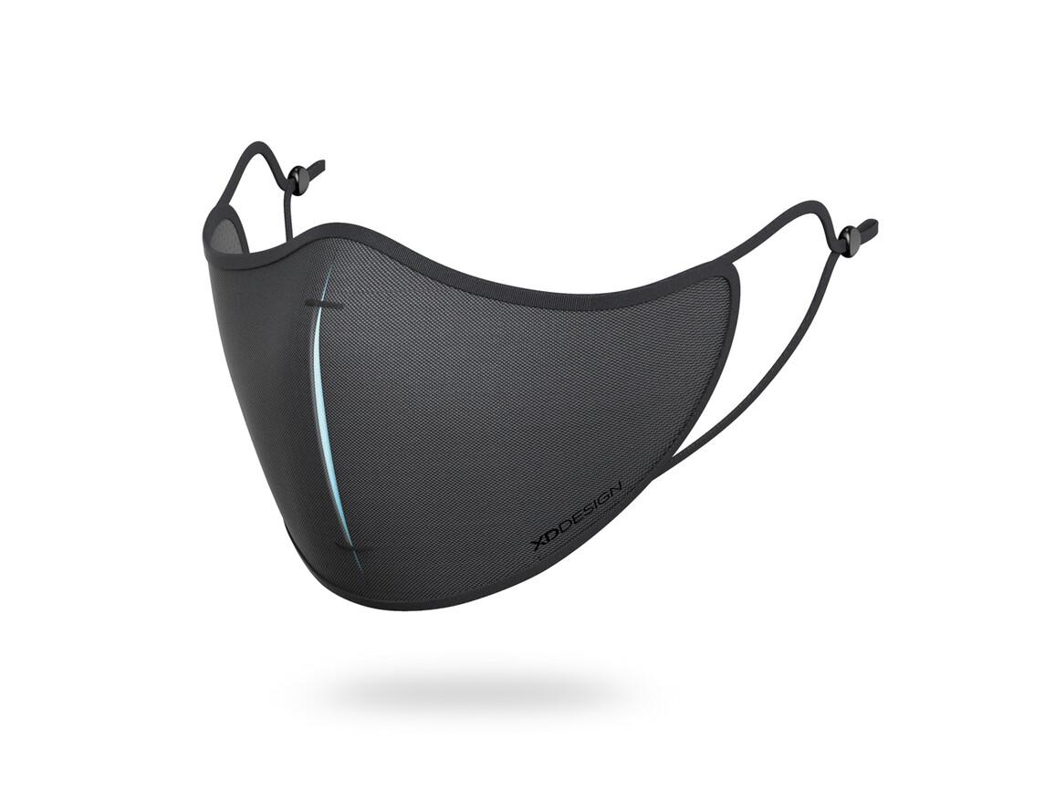 XD DESIGN Masken-Set schwarz, blau bedrucken, Art.-Nr. P265.871