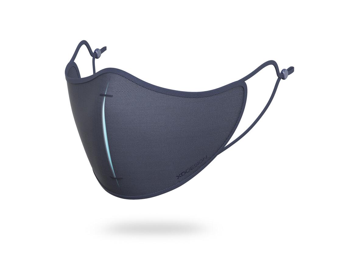 XD DESIGN Masken-Set navy blau, blau bedrucken, Art.-Nr. P265.875