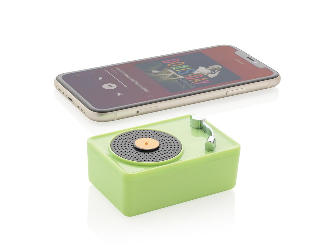 Mini Vintage kabelloser 3W Lautsprecher grün bedrucken, Art.-Nr. P329.337