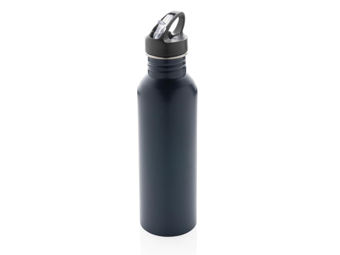 Deluxe Sportflasche aus Edelstahl navy blau bedrucken, Art.-Nr. P436.420