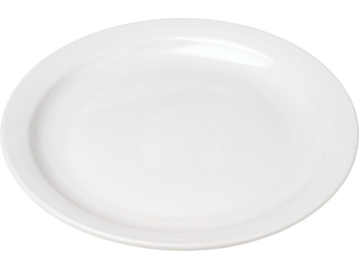 Porcelain plate with 23,5 cm diameter – Weiß bedrucken, Art.-Nr. 002999999_2907