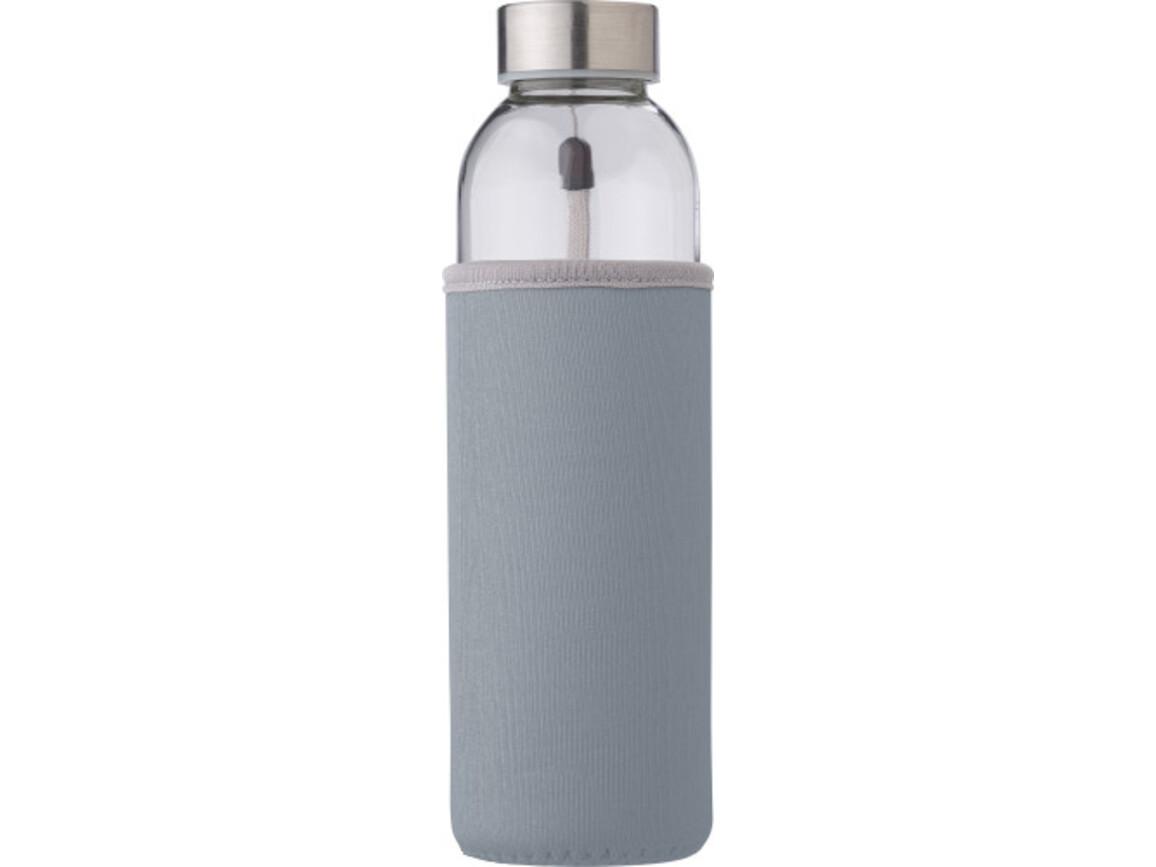 """Glasflasche """"Neo"""" (500ml) mit einem Neoprenhülle – Grau bedrucken, Art.-Nr. 003999999_9301"""