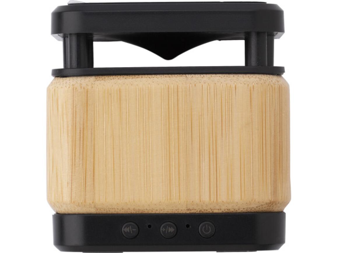 Ariel Drahtloser Bambus- und ABS-Lautsprecher und Ladegerät – Braun bedrucken, Art.-Nr. 011999999_9319