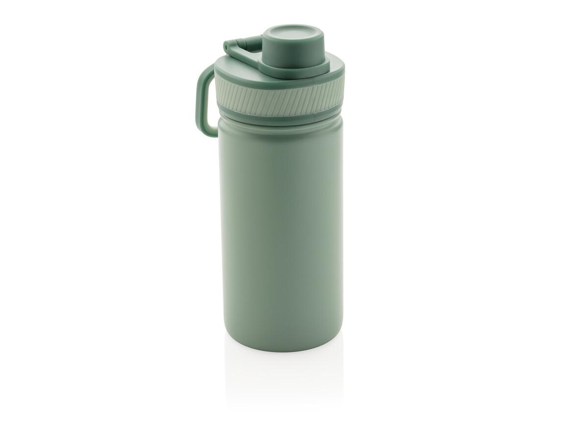 Sport Vakuum-Flasche aus Stainless Steel 550ml grün, grün bedrucken, Art.-Nr. P436.197