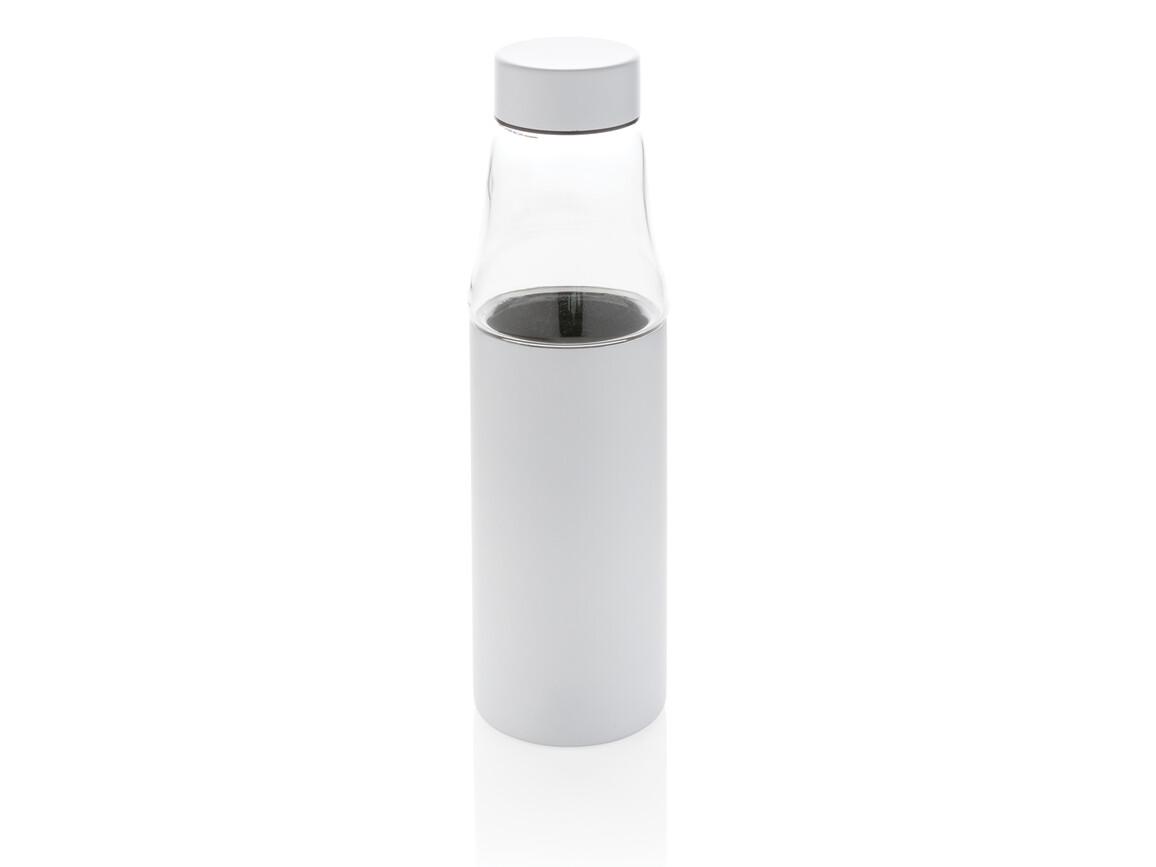 Hybrid auslaufsichere Glas und Vakuum-Flasche weiß bedrucken, Art.-Nr. P436.633