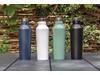 Moderne Vakuum-Flasche aus Stainless Steel schwarz bedrucken, Art.-Nr. P436.761