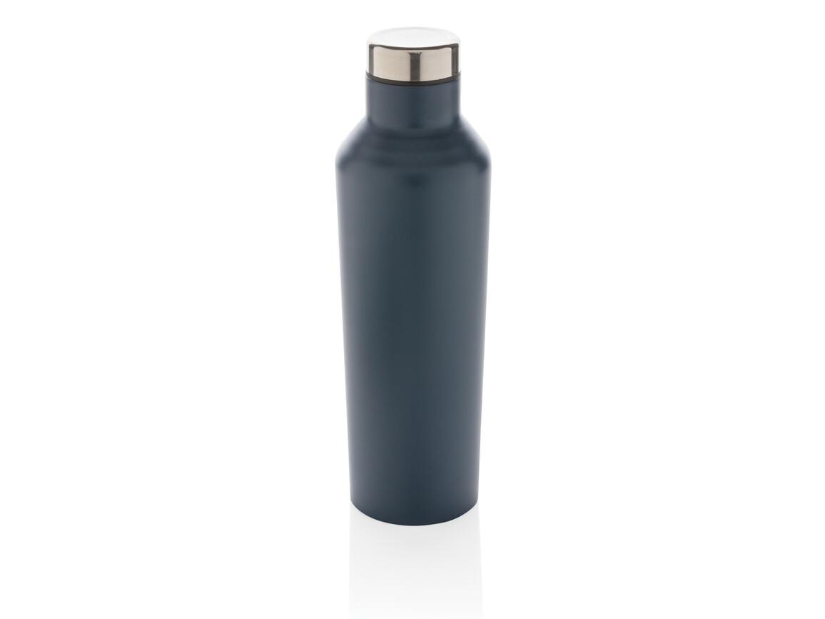 Moderne Vakuum-Flasche aus Stainless Steel blau bedrucken, Art.-Nr. P436.765