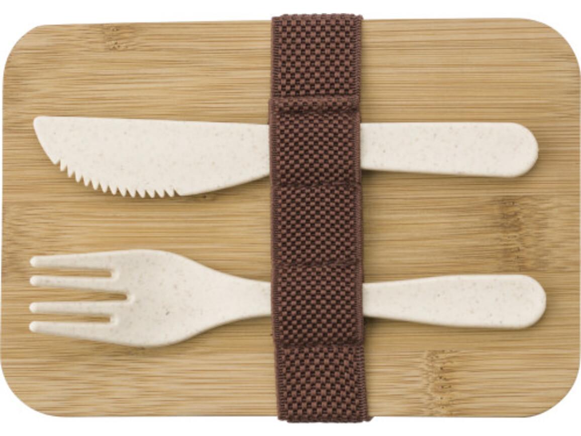 Lunchbox aus Weizenstroh – Braun bedrucken, Art.-Nr. 011999999_9320