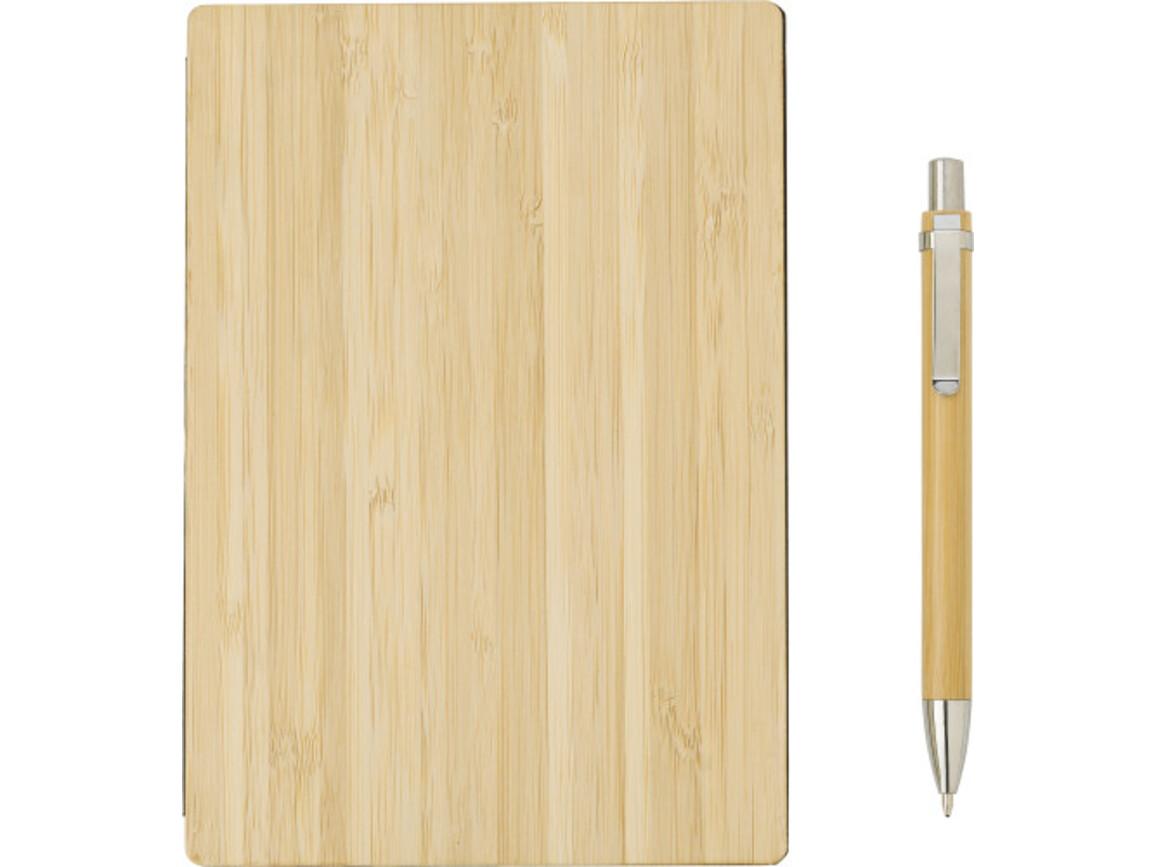 """Bambus """"Ariella"""" Notizbuch – Braun bedrucken, Art.-Nr. 011999999_9344"""