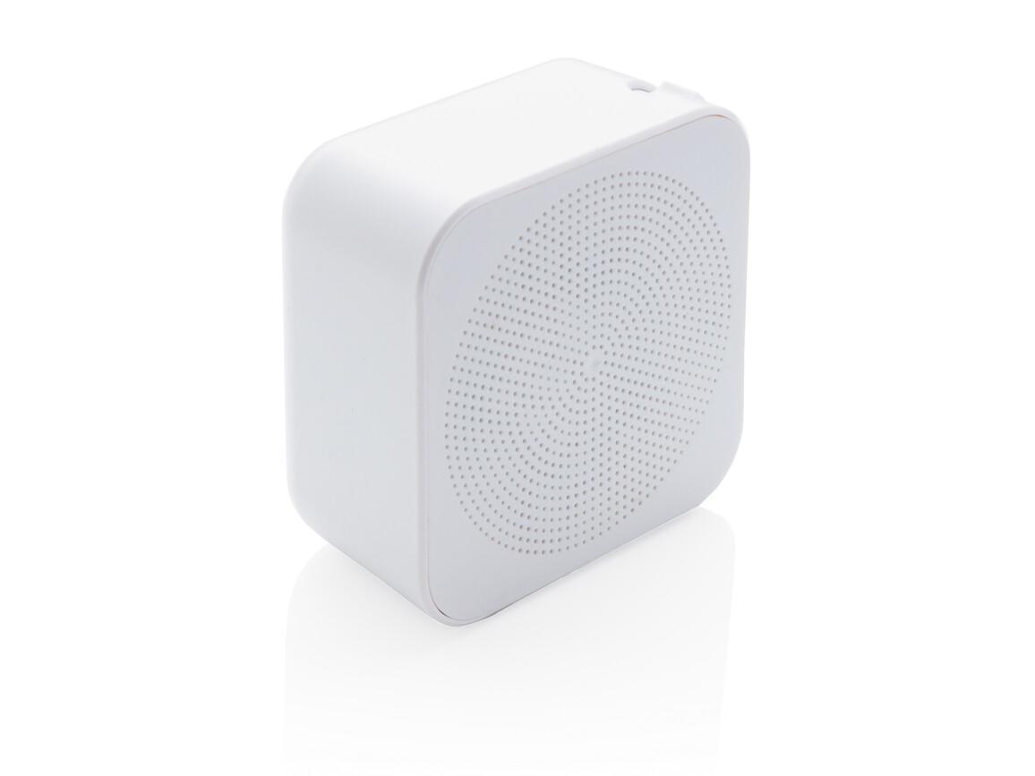 3W antimikrobieller kabelloser Lautsprecher weiß bedrucken, Art.-Nr. P329.033