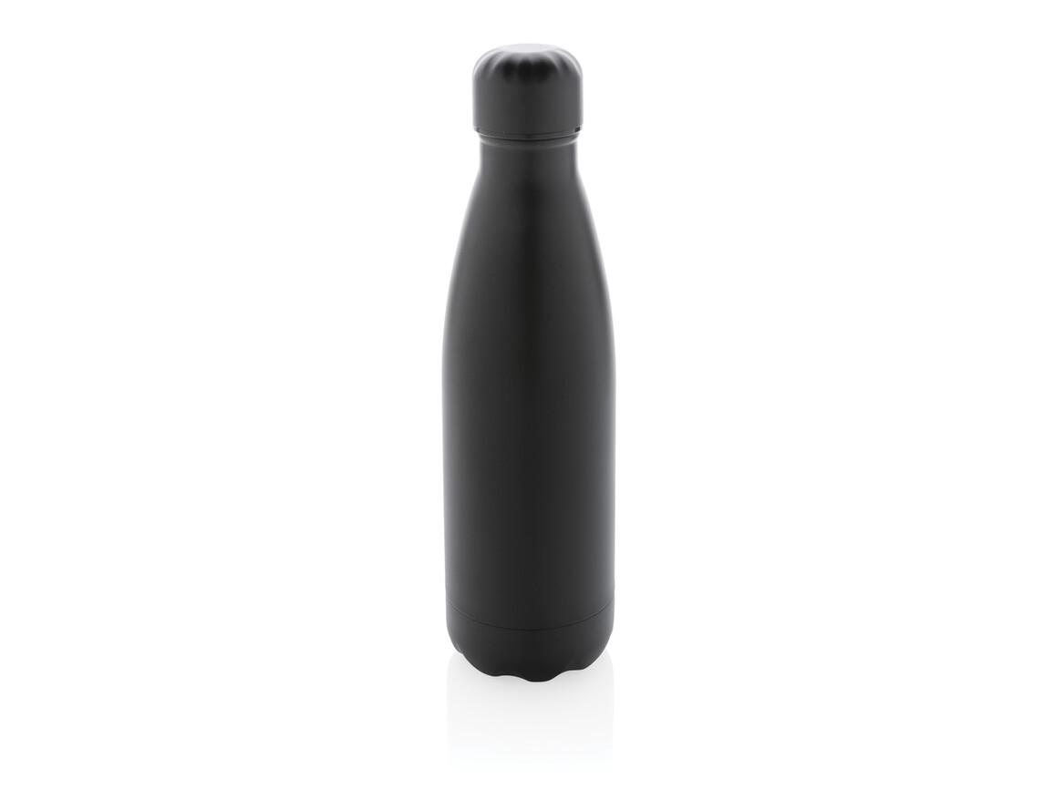 Einfarbige Vakuumisolierte Stainless Steel Flasche schwarz bedrucken, Art.-Nr. P436.461